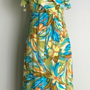 Alice & Trixie Silk Ruffle Floral Maxi Dress